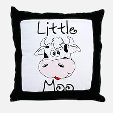 Little Moo Throw Pillow