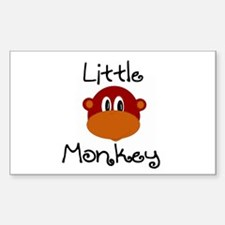 Little Monkey Rectangle Decal