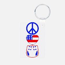 Peace, Love, Cloth Keychains