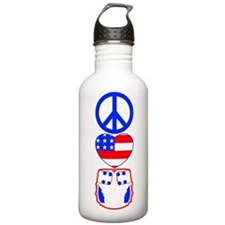 Peace, Love, Cloth Water Bottle