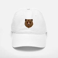 Brown Bear - Grizzly head Baseball Baseball Cap