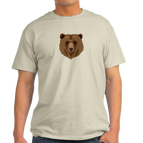 Brown Bear - Grizzly head Light T-Shirt
