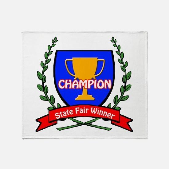State Fair Winner Throw Blanket