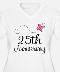 25th Anniversary Gift Butterfly T-Shirt