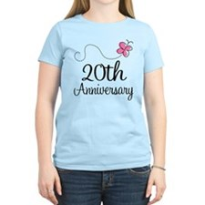 20th Anniversary Gift Butterfly T-Shirt