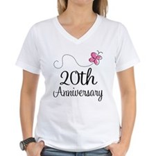 20th Anniversary Gift Butterfly Shirt