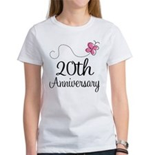 20th Anniversary Gift Butterfly Tee