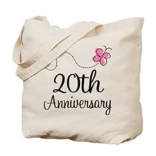 20th Anniversary Gift Butterfly Tote Bag