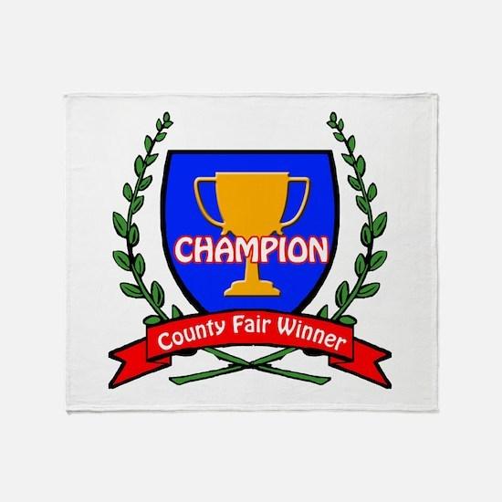 County Fair Winner Throw Blanket