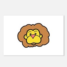 Cute Lion Postcards (Package of 8)