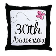 30th Anniversary Gift Throw Pillow