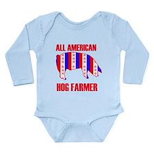 Unique Pig dad Long Sleeve Infant Bodysuit