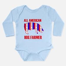 Cute Pig dad Long Sleeve Infant Bodysuit