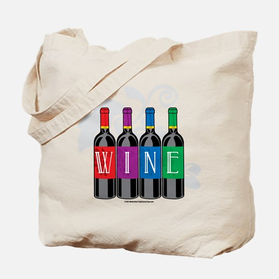 Wine Bottles Tote Bag