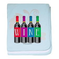 Wine Bottles baby blanket