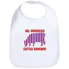 All American Cattle Rancher Bib