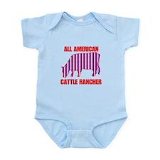 All American Cattle Rancher Infant Bodysuit