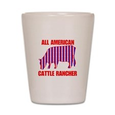 All American Cattle Rancher Shot Glass