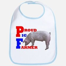 proud pig farmer Bib