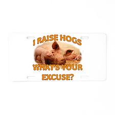 Pig Breeder Aluminum License Plate