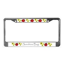 Sunshine Bug License Plate Frame PERSONALIZED!