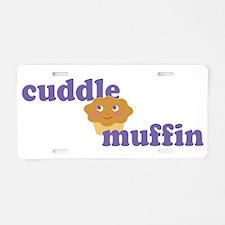 Cuddle Muffin Aluminum License Plate