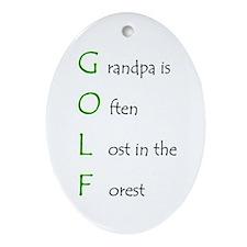 Grandpa Golf Oval Ornament