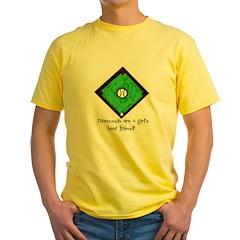 Diamonds Softball Yellow T-Shirt