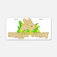 Snuggle Bunny Aluminum License Plate