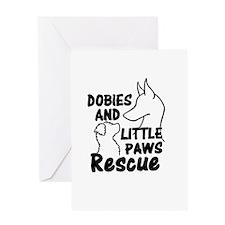 Doberman rescue Greeting Card
