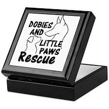 Funny Doberman rescue Keepsake Box