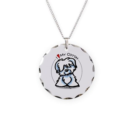 Love my Coton Necklace Circle Charm