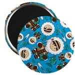 "Inuit Boy and Fish 2.25"" Magnet (10 Pk)"