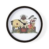 Country black doll Basic Clocks