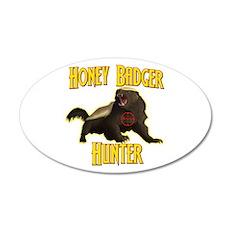 Honey Badger Hunter 22x14 Oval Wall Peel