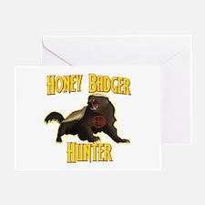 Honey Badger Hunter Greeting Card