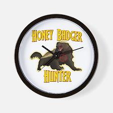 Honey Badger Hunter Wall Clock