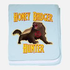 Honey Badger Hunter baby blanket