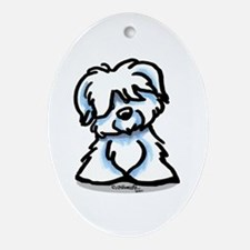 Coton Cartoon Ornament (Oval)