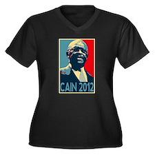 Cute Cain for president Women's Plus Size V-Neck Dark T-Shirt