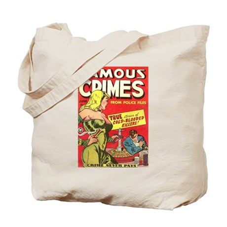 Famous Crimes Tote Bag