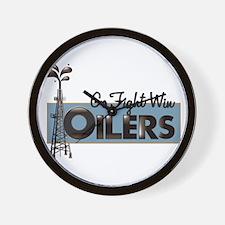 Oilers Wall Clock