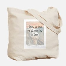 I Scream Ice cream Tote Bag