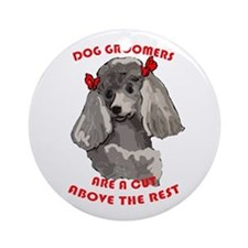 Dog Groomiing Ornament (Round)
