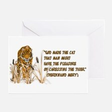 Tiger In Bullrushes Greeting Cards (Pk of 10)