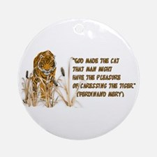 Tiger In Bullrushes Ornament (Round)