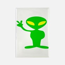 Aliens For Peace Rectangle Magnet (10 pack)