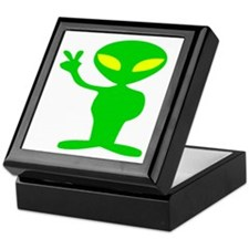 Aliens For Peace Keepsake Box