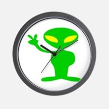 Aliens For Peace Wall Clock