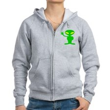 Aliens For Peace Zip Hoodie